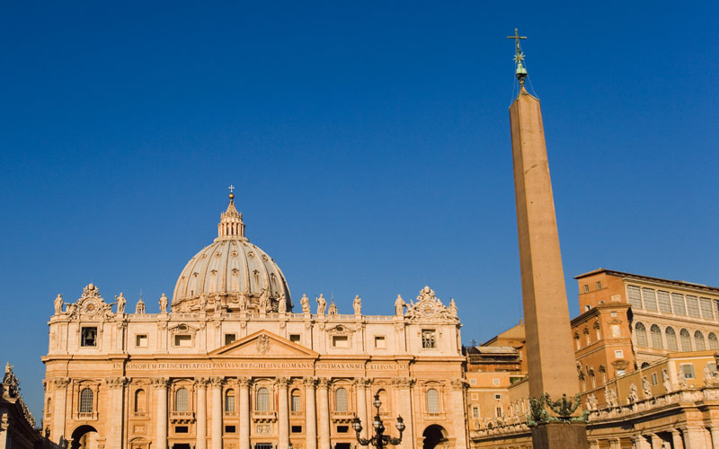 Vatican Plaza in Rome, Italy
