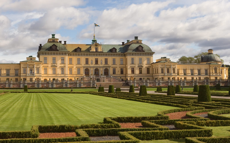 Royalty resides in the Stockholm Palace in Sweden
