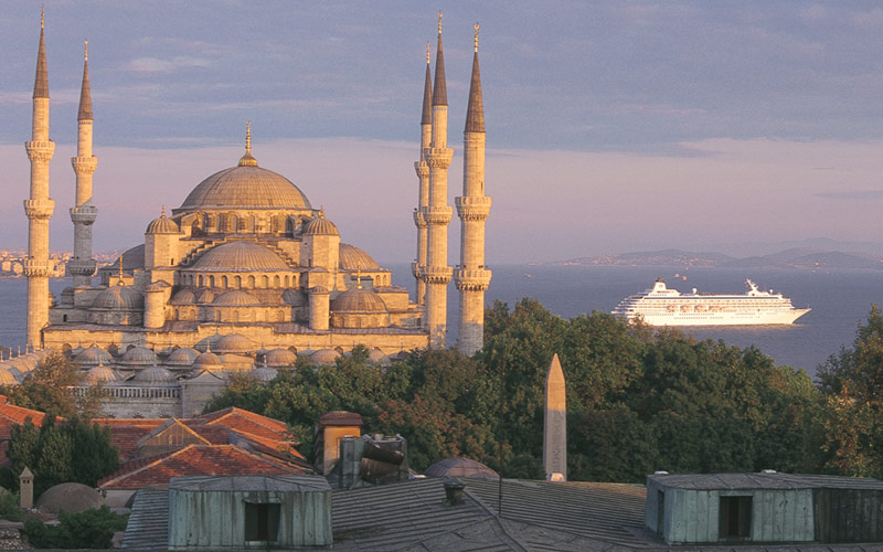 Crystal Symphony cruises through Istanbul, Turkey