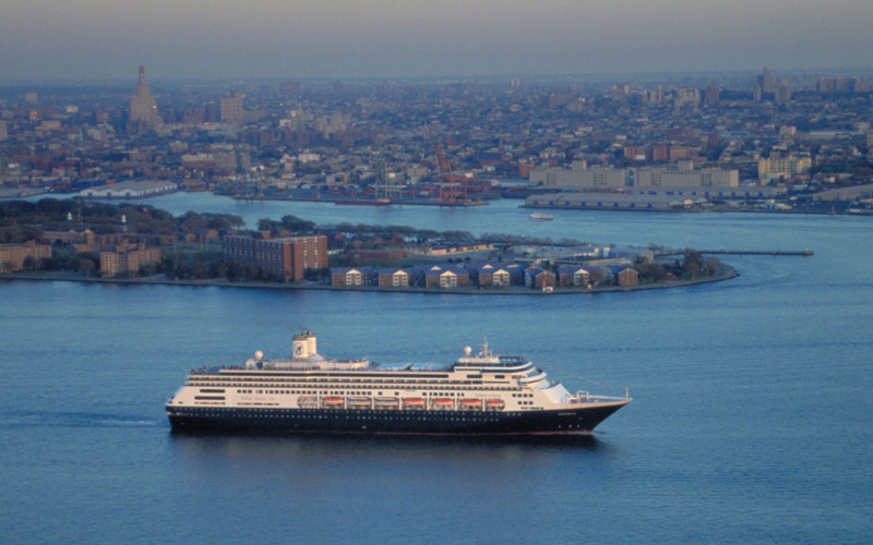ms Amsterdam departing from New York