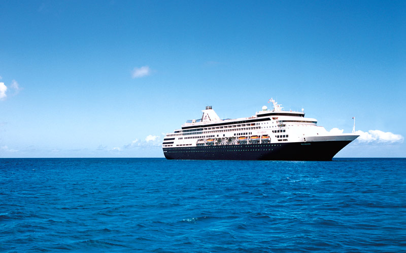 Holland America sails the open ocean