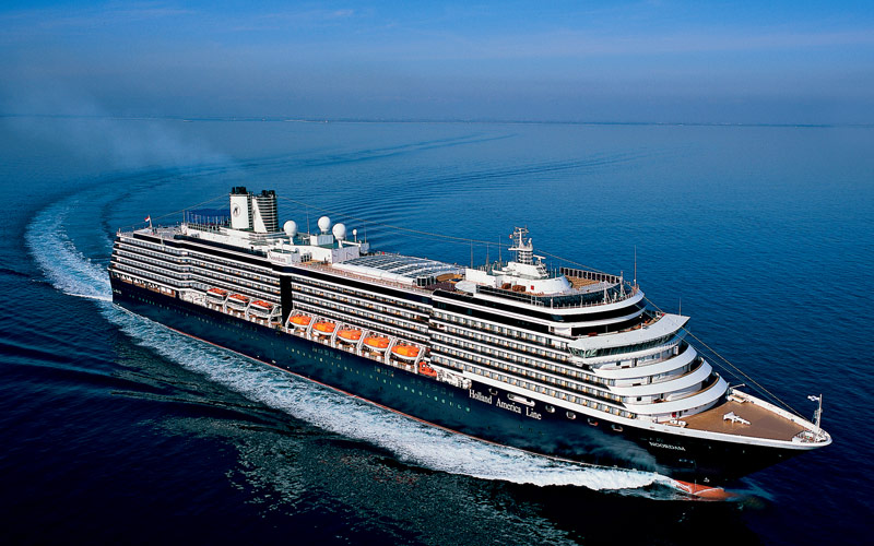 Holland America cruising the open ocean