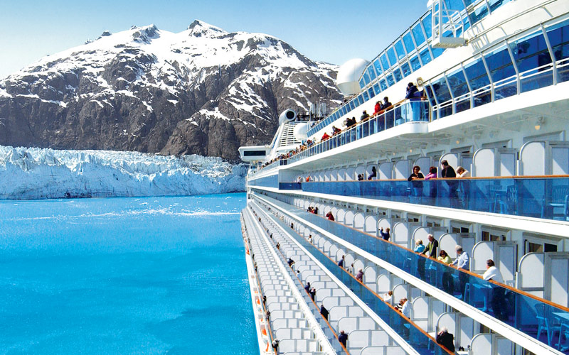 View of the Alaskan glaciers from a Princess ship