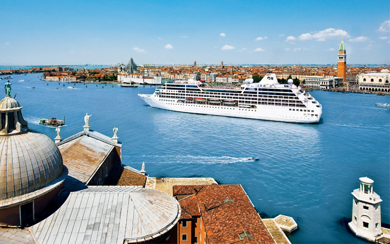 Princess Cruises off coast of Venice, Italy