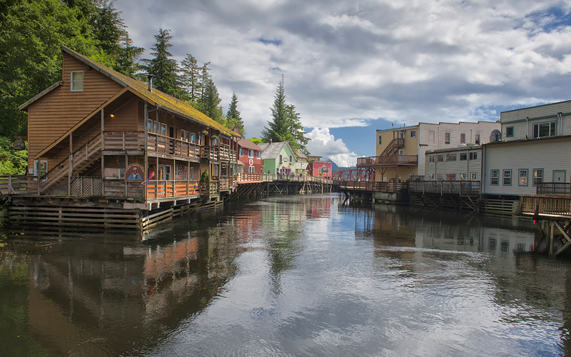 Ketchikan Alaska picturesque town view
