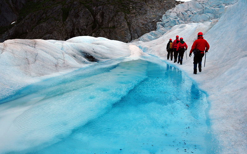 Mendenhall Glacier expedition in Alaska