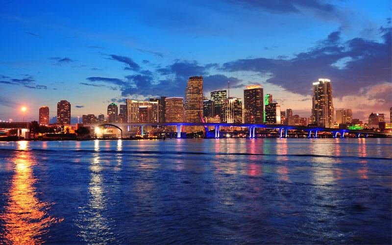 Miami skyline Florida