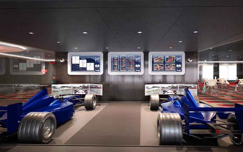 Formula1 Simulator aboard MSC Bellissima