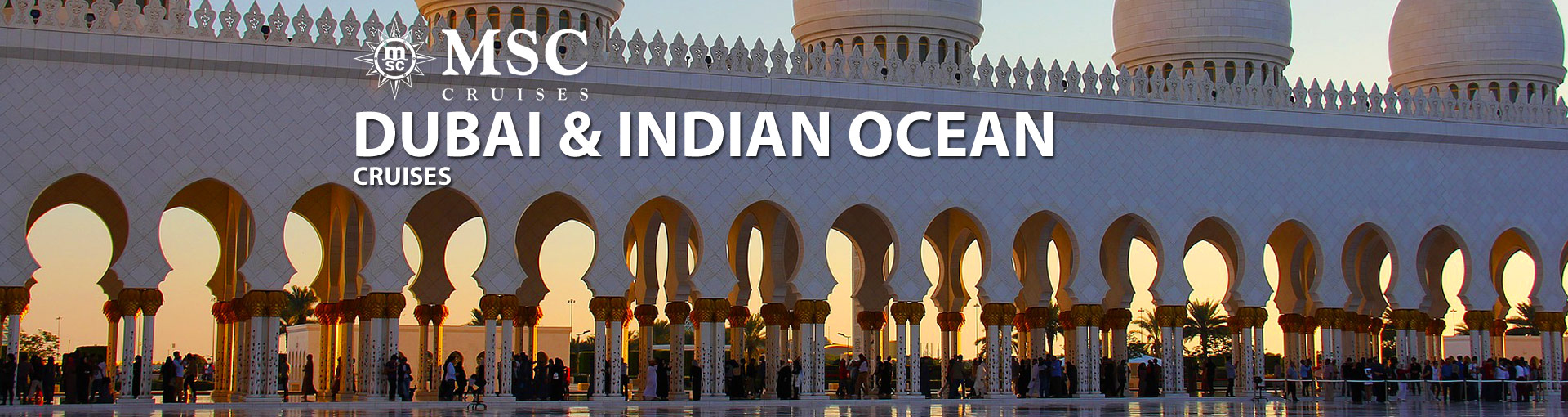 Banner for MSC Dubai and India Cruises