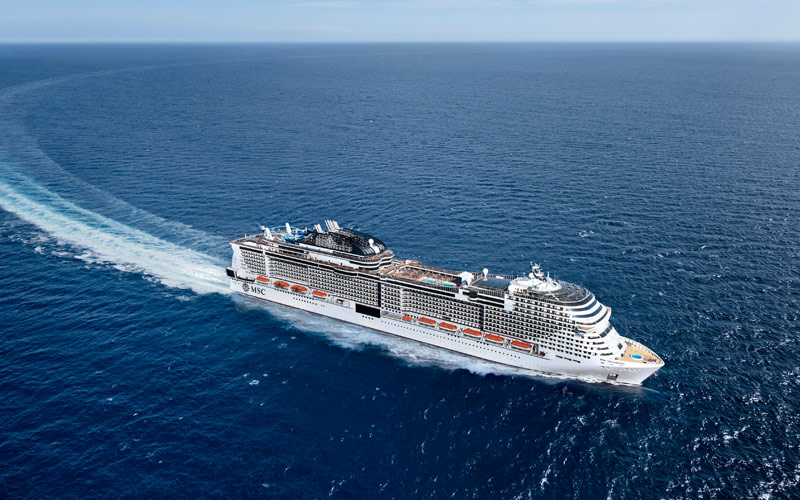 MSC Grandiosa at Sea