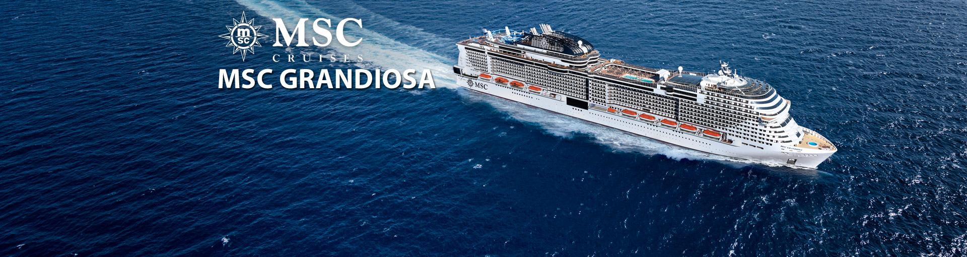 MSC Grandiosa Cruise Ship, 2019, 2020 and 2021 MSC ...