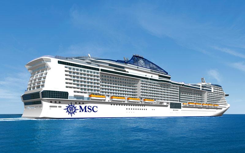 MSC Cruises Meraviglia cruise ship exterior
