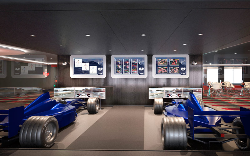 Formula 1 Simulator aboard MSC Meraviglia