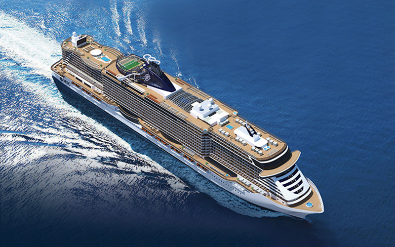 Aerial rendering of MSC Seaside