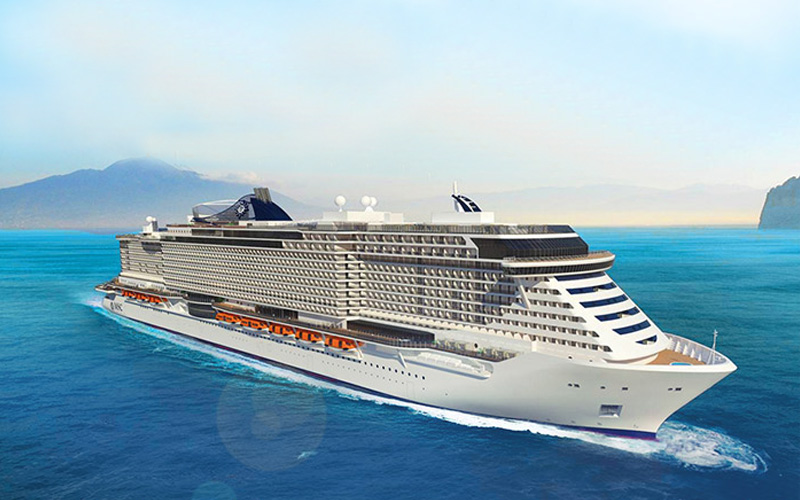 Exterior rendering of MSC Seaside