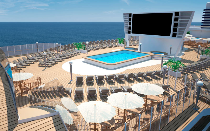 MSC Seaside Pool Area