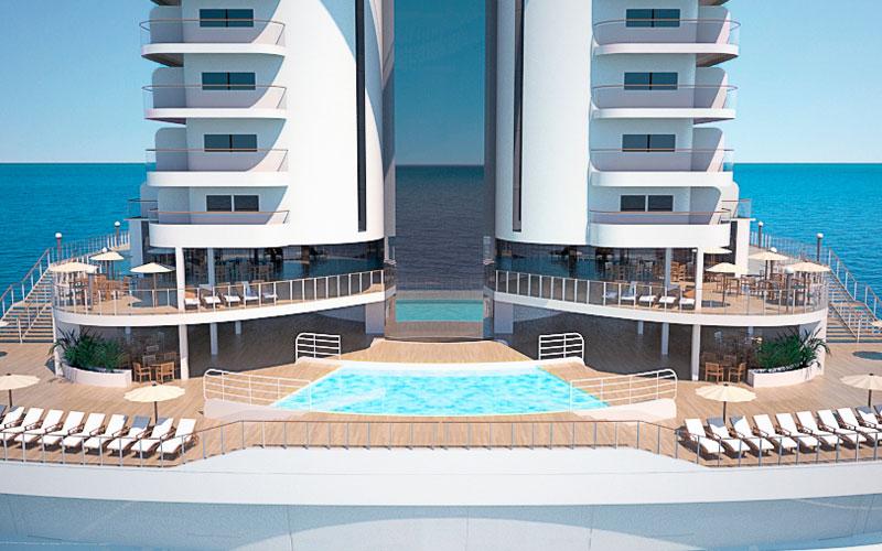 MSC Seaside Stern