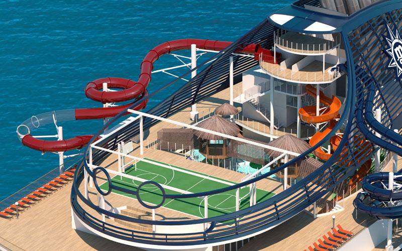 MSC Seaview Aqua Park Rendering