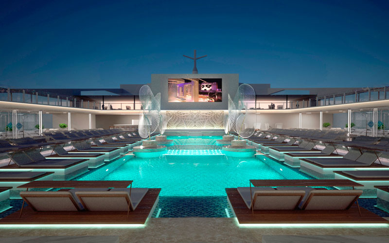 MSC Seaview Pool Theater Rendering