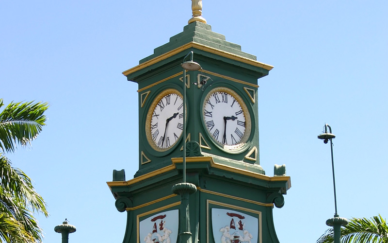 Berkeley Memorial Clock in St. Kitts MSC Cruises