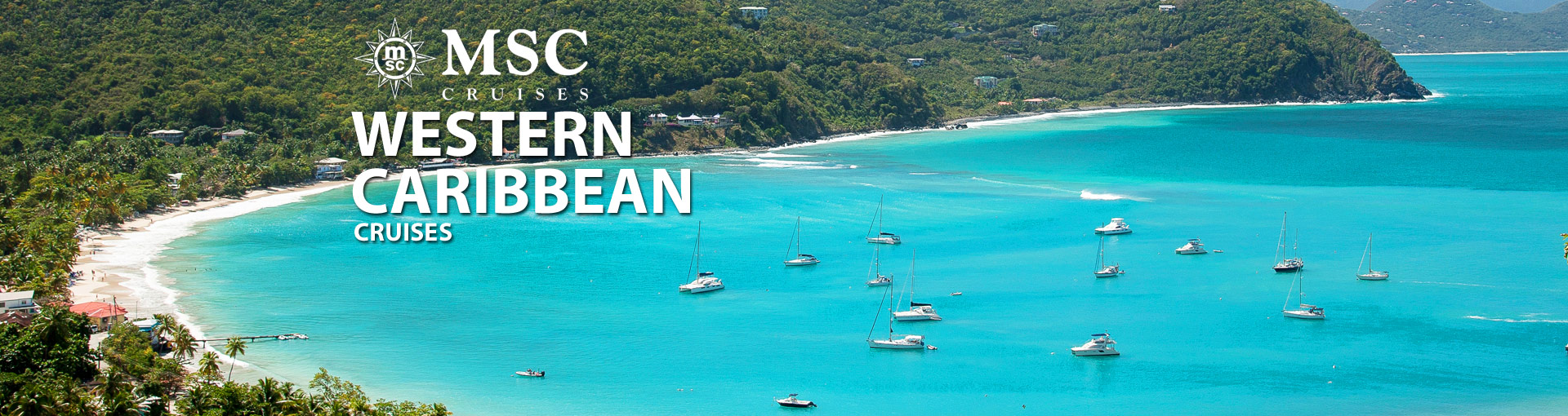 Banner for MSC Western Caribbean cruises