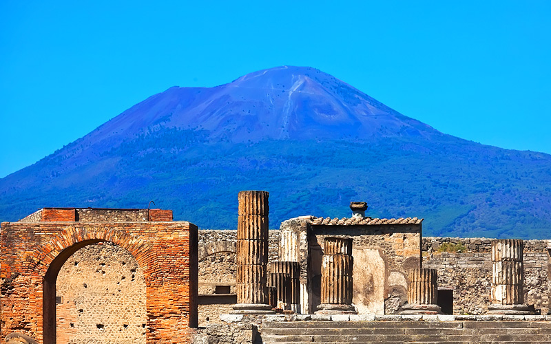 Mount Vesuvius & ruins of Pompeii Norwegain Cruise