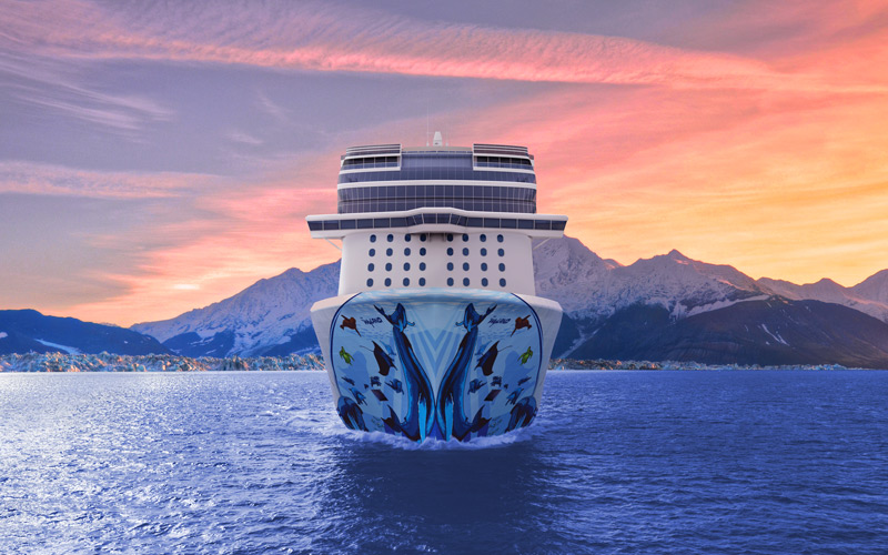 Bow art for Norwegian Bliss