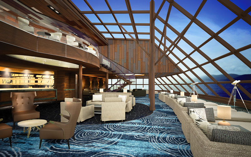Norwegian Bliss Haven Observation Lounge