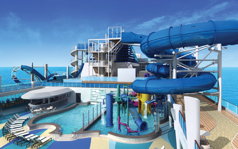 Aqua Park on the Norwegian Bliss