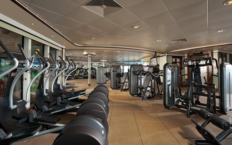 Norwegian Cruise Line Dawn fitness center