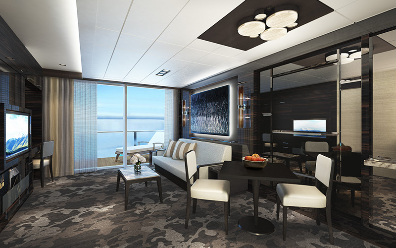 Family Villa Living Room on Norwegian Encore