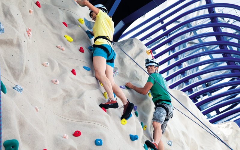 Norwegian Cruise Line Epic Climbing Wall