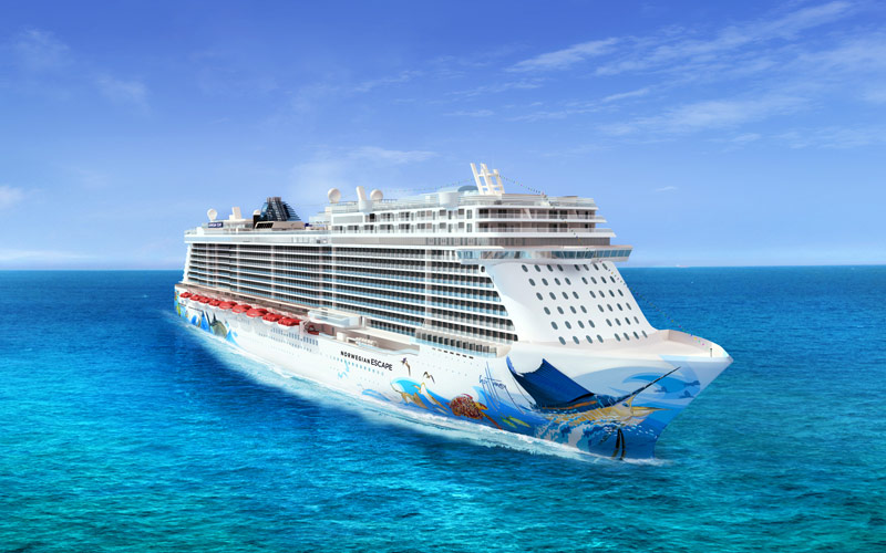 Norwegian Cruise Line Escape exterior rendering