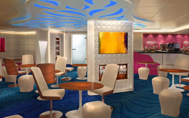 Norwegian Cruise Line Escape studio lounge