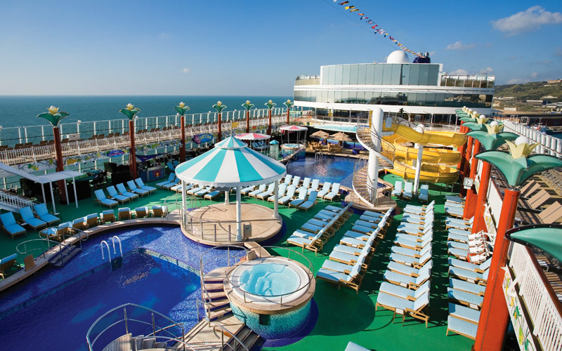 Norwegian Cruise Line Gem Pool Deck