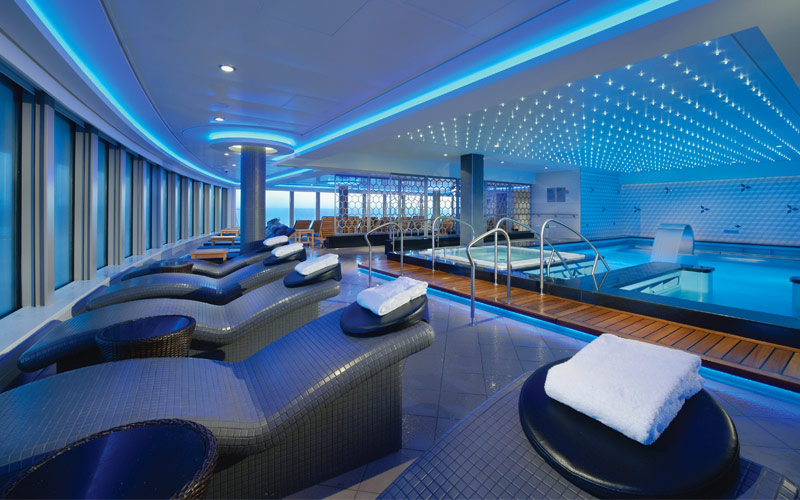 Norwegian Cruise Line Getaway spa thermal suite