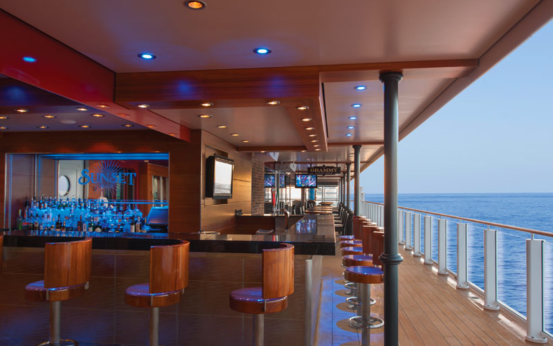 Norwegian Cruise Line Getaway sunset waterfront