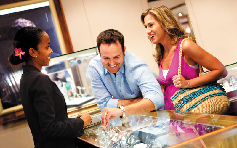 Norwegian Cruise Line Jewel shopping