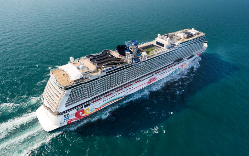 Aerial view of Norwegian Joy