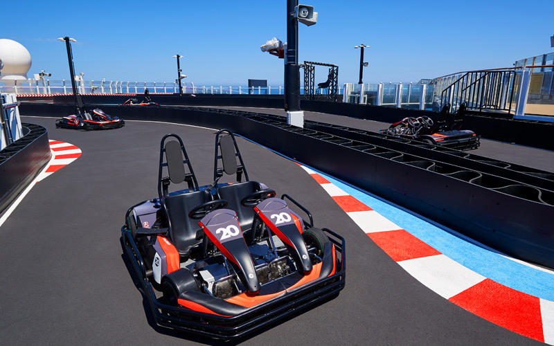 Go Carts aboard Norwegian Joy