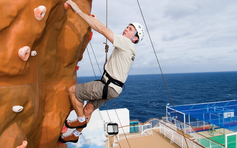 Norwegian Cruise Line Pearl climbing wall
