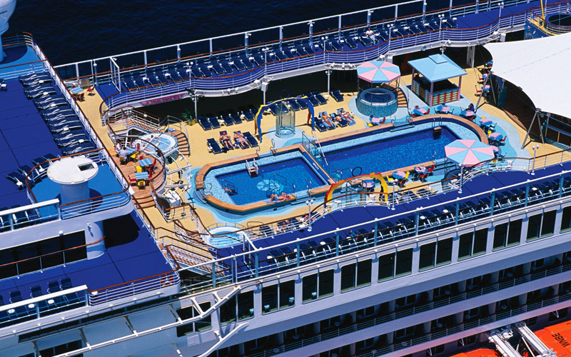 Norwegian Cruise Line Pride of America aerial pool