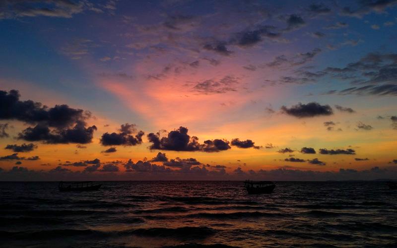 Coast of Sihanoukville, Cambodia