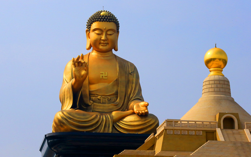 Gold Buddha in Taiwan