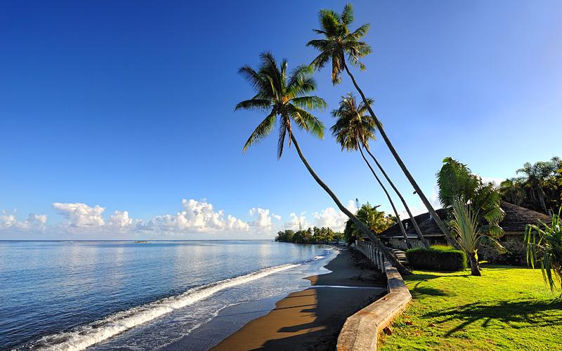Black sand beach, Papeete, Tahiti Oceania Cruises