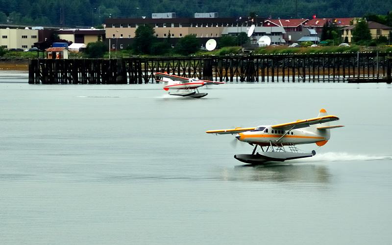 Floatplanes near Ketchikan, Alaska Oceania Cruises