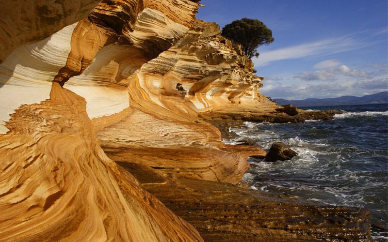 Cliff Formation on Maria Island East Tasmania Aus