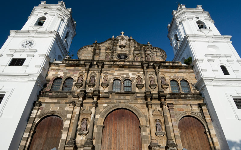 Panama Cathedral Sal Felipe old quarter UNESCO