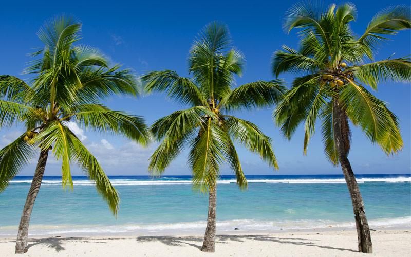 Beach in Rarotonga Cook Island Paul Gauguin Tahiti