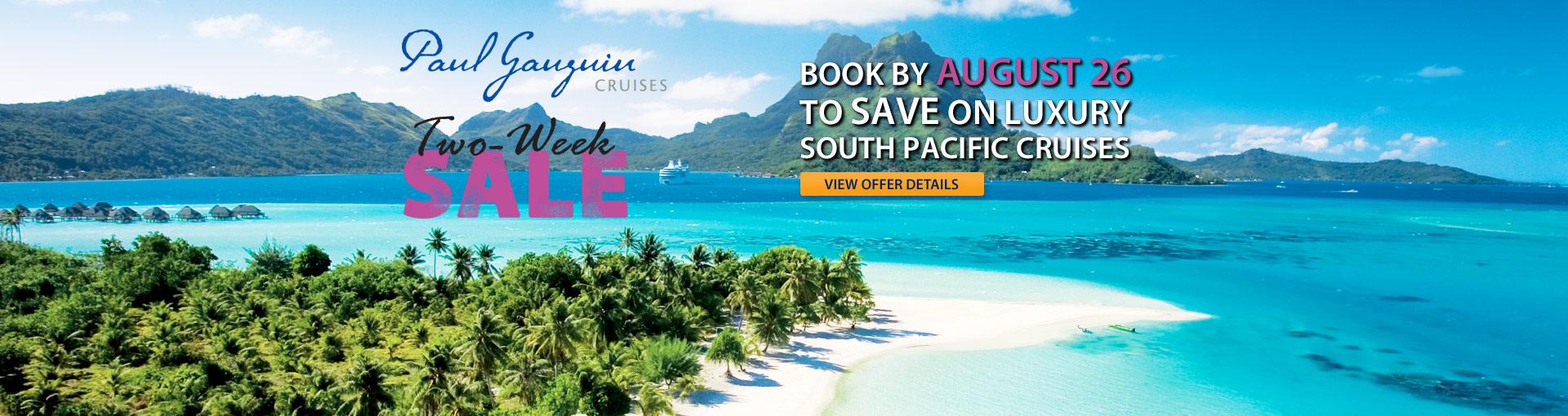 Paul Gauguin Cruises 2-Week Sale
